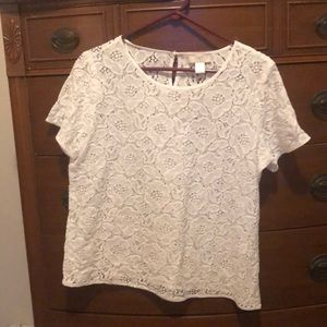 Never worn white lace blouse